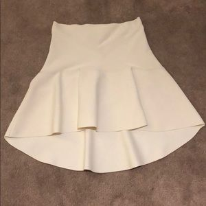 BCBG white high low mini Small